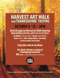 Whole Foods Harvest Art Walk Sunday Oct 5th, noon-3pm